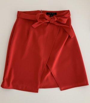 Amisu Spódnica w kształcie tulipana ceglasty-czerwony