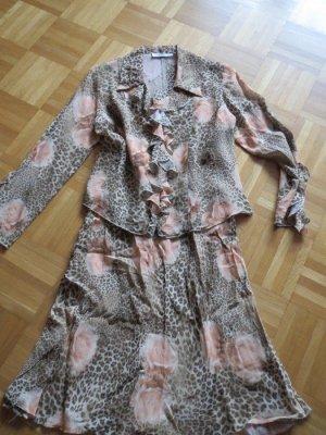Rock und Bluse, Sommer, Gr.38/S, florale Muster