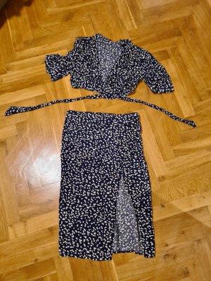 In Vogue Paris Ensemble en jersey bleu foncé