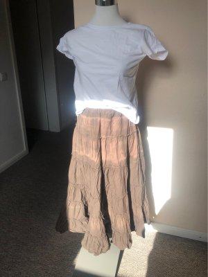Vero Moda Falda gitana marrón claro-marrón grisáceo