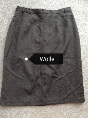 Original Vintage Wool Skirt dark grey-anthracite
