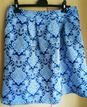 More & More Flared Skirt blue-white polyester