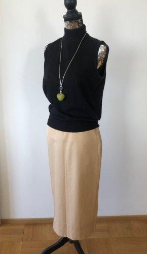 Airfield Pencil Skirt beige-camel cotton