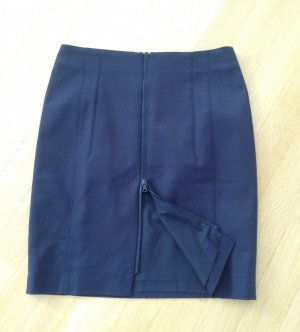 Akris punto Ołówkowa spódnica ciemnoniebieski
