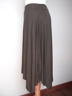 American Eagle Outfitters Asymmetrische rok donkergrijs-grijs Viscose