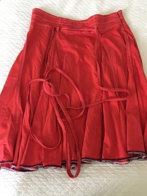 Armani Exchange Jupe mi-longue rouge mûre-rouge foncé