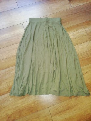Asos Spódnica midi zielono-szary-oliwkowy