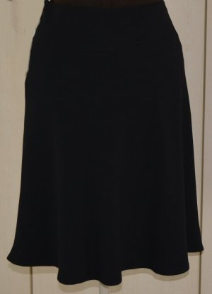 Flared Skirt black mixture fibre