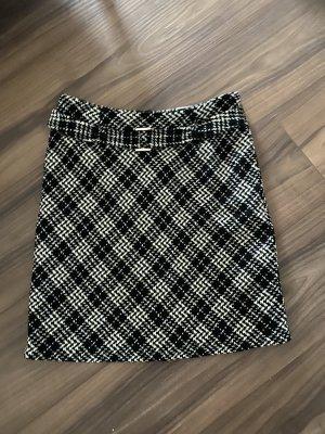 Biaggini Wełniana spódnica czarny-biały