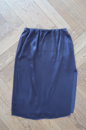 Bruuns bazaar Midi Skirt dark blue viscose