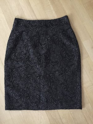 Burberry Lace Skirt dark green cotton
