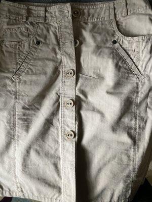 Cecil Midi Skirt beige mixture fibre