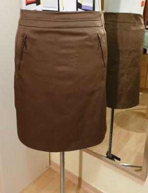 Comma Asymmetry Skirt ocher-bronze-colored cotton