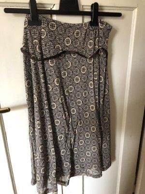 Esprit Spódnica midi brązowy-kremowy