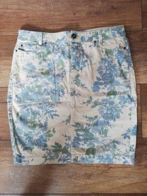 Esprit Spódnica midi kremowy-niebieski