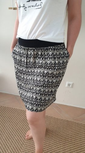 Edc Esprit Spódnica z falbanami biały-czarny