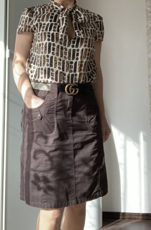 Esprit Falda asimétrica marrón oscuro