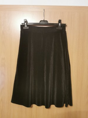 Flame Geplooide rok zwart