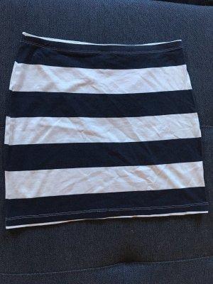 H&M Spódnica ze stretchu biały-ciemnoniebieski