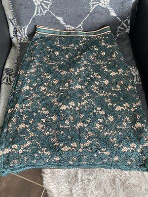 Hallhuber Spódnica midi beżowy-zielony