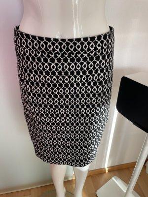 Hallhuber Pencil Skirt black-white