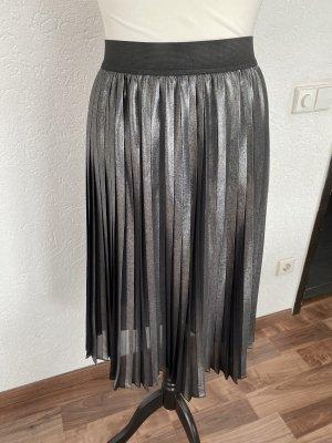 HUGO Hugo Boss Pleated Skirt black-silver-colored