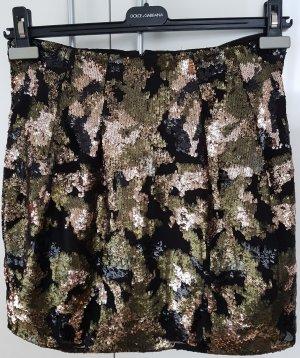 Iro Miniskirt black-olive green