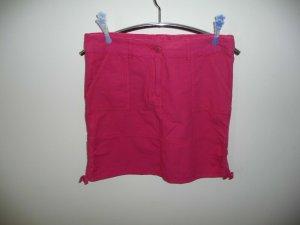 Janina Cargo Skirt magenta cotton