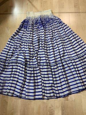 Jean Paul Gaultier Maxi Skirt white-blue
