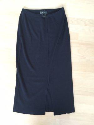Laurèl Wollen rok donkerblauw