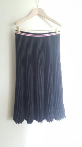 Marc Cain Pleated Skirt white-black