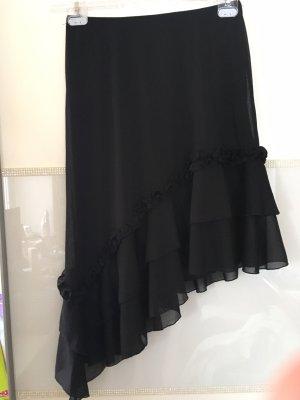 Melrose Falda asimétrica negro