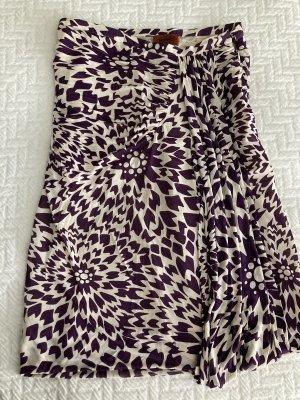 Missoni Jupe à plis crème-violet foncé