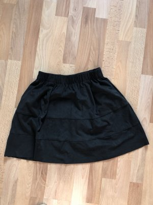 Noisy May Faux Leather Skirt black