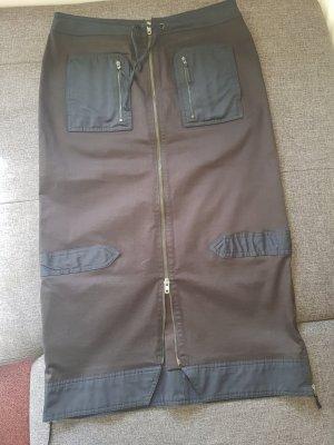 Promod Falda larga negro-gris antracita