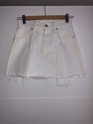 Pull & Bear Jupe cargo blanc