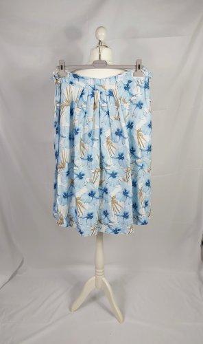 Robert Friedman Linen Skirt white-light blue