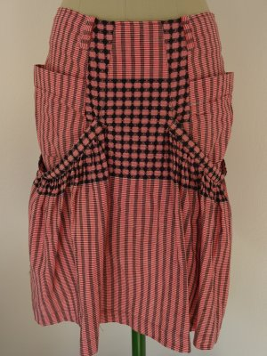 Snob Asymmetry Skirt black-red cotton