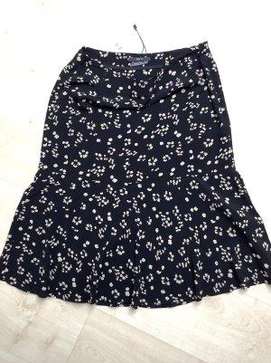 Set Spódnica midi czarny-w kolorze białej wełny Wiskoza