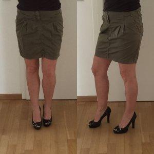 Set Midi Skirt green grey cotton