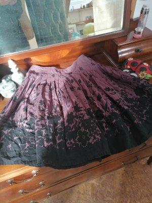 St-martins Jupe évasée noir-gris lilas coton