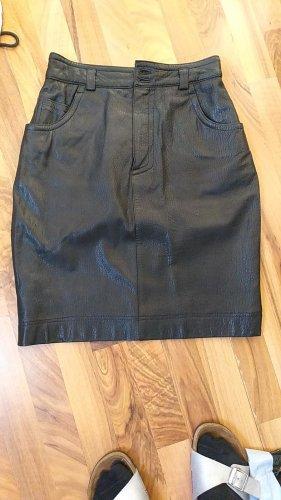 Strenesse Leather Skirt black