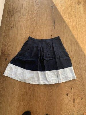 Tommy Hilfiger Spódnica midi biały-ciemnoniebieski