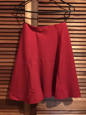 Uniqlo Flared Skirt red