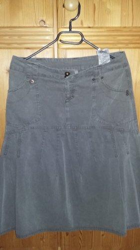 Vero Moda Spódnica midi szaro-brązowy Bawełna