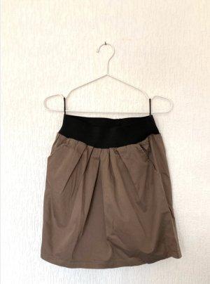 Vero Moda Spódnica w kształcie tulipana czarny-brązowy