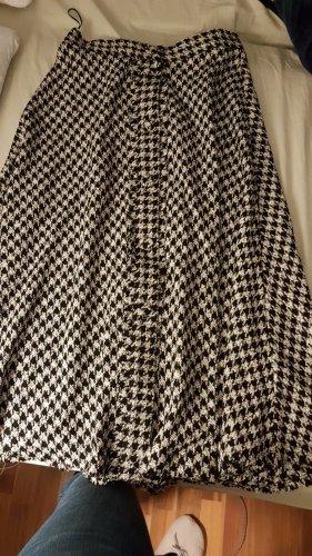 Zara Basic Spódnica midi czarny-biały