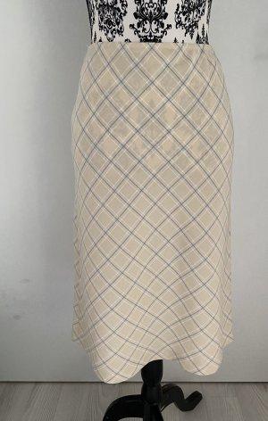Zara Basic Spódnica midi kremowy-błękitny