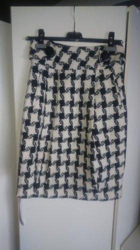 Zara Falda Tweed blanco-negro