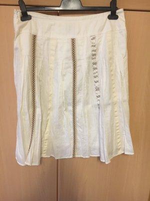 Edc Esprit Plaid Skirt white-cream